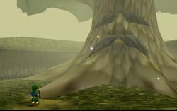Link vor dem Deku-Baum