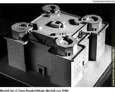 Modell des Geschützturms Humboldthain