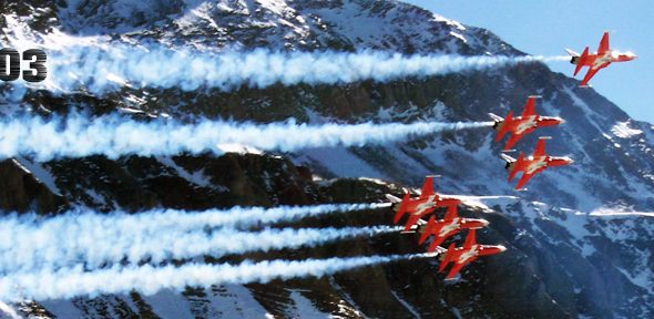 Fliegerschießen auf der Axalp 2003