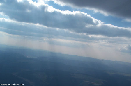Segelfliegen irgendwo am Rande des Schwarzwalds