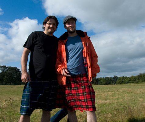 Unsere beiden Highlander Dominik Mc Donald und Matze Mc Intosh! Kilts aus Edinburgh ^^