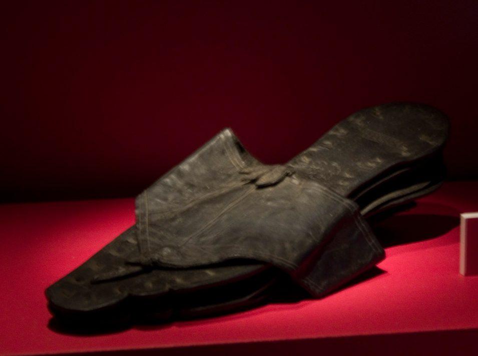 Römische Ledersandale in Vindolanda