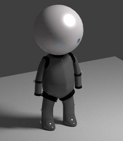 Der Körper des Roboters, mit .. äh... Gelenkschutzabstandshaltern oO