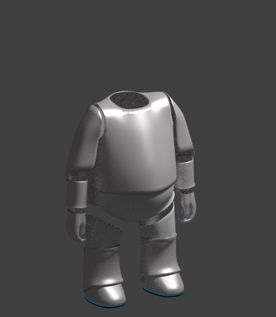 Um den Körper herum formte ich die Kleidung/Panzer/Hülle, wie auch immer man das nennt :D Hier die Hülle ohne Körper