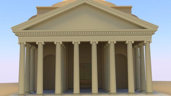 Pantheon, Petroleumlampe und Feuerschale