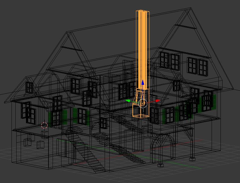 Gittermodell Haus 3D