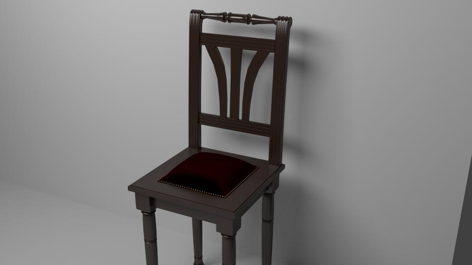 Traditioneller Stuhl 3D