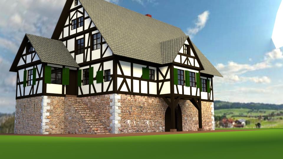 Fachwerkhaus mit ordentlichen Mauern