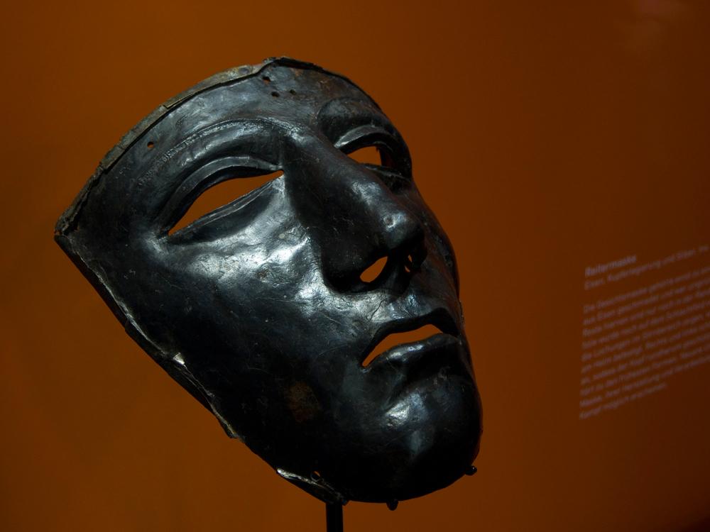 Die gefundene römische Gesichtsmaske ohne Silber