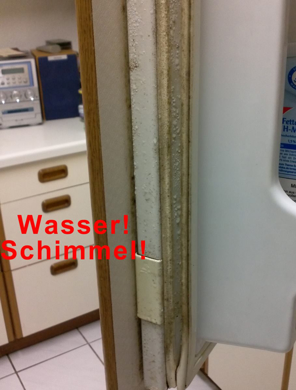 So sollte ein Kühlschrank nicht aussehen