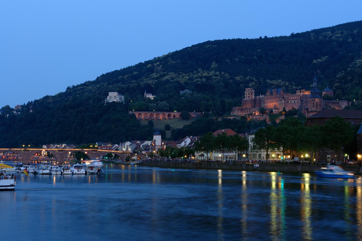 """Heidelberg in der """"blauen Stunde"""""""