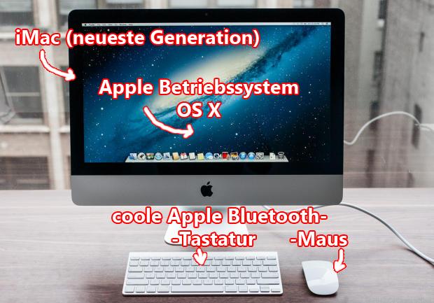 """iMac und kabellose Tastatur und Maus - diese beiden werden im Verlauf des Textes auch noch """"lobend"""" erwähnt :D"""
