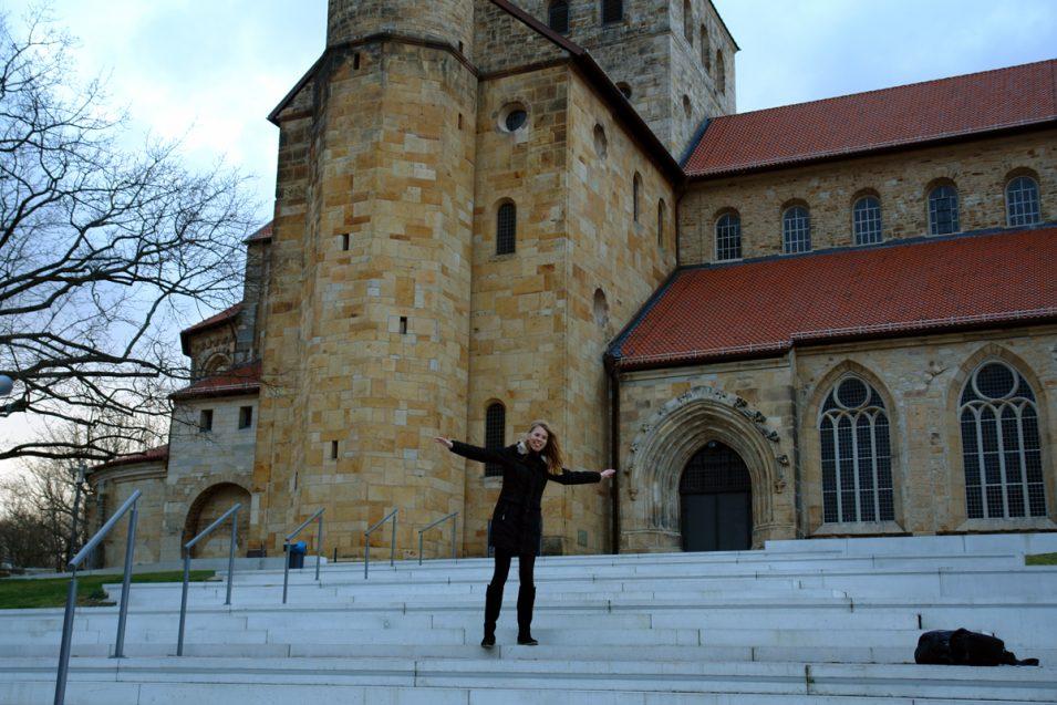 Orkanböen vor der Hildesheimer Michaeliskirche (abgeschlossen)