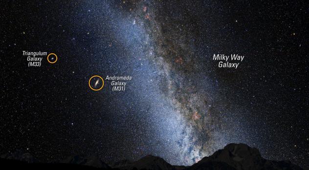 Andromeda am Nachthimmel: heute