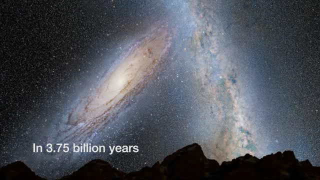 Andromeda am Nachthimmel: In 3,75 Milliarden Jahren