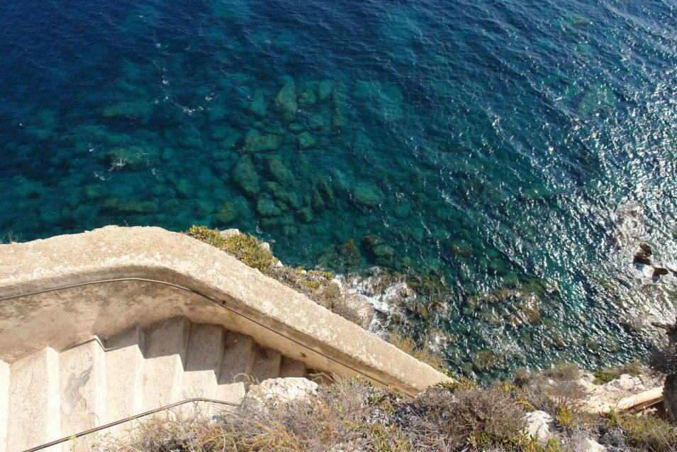 Eine berühmte Treppe nach Bonifacio, 2,50 € Eintritt, das haben wir uns gespart