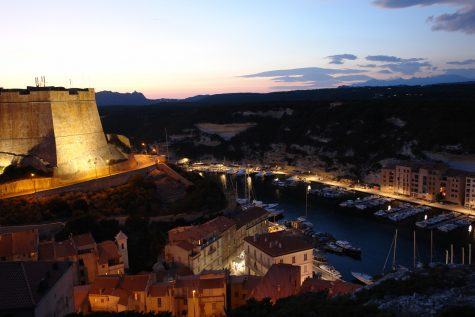 Bonifacio (Korsika) bei Nacht