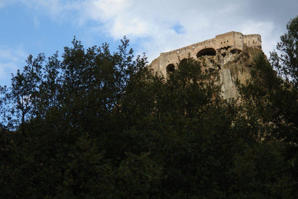 Zitadelle von Corte vom Campingplatz aus