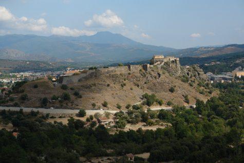 Aussicht auf Corte, Korsika