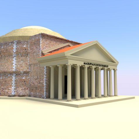 Pantheon-Rekonstruktion: Vorher