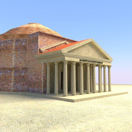 Pantheon-Rekonstruktion: Nachher