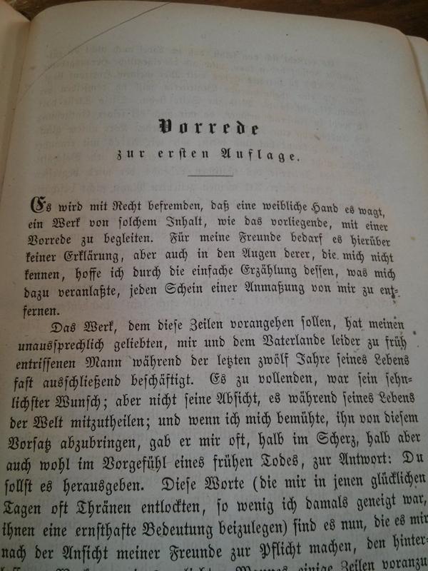 Vorwort von Clausewitzens Ehefrau Marie von Clausewitz, die das Werk nach dessen Tod herausgab