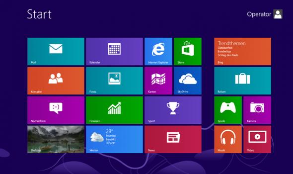 Schnee und Windows 8