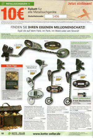 Werbung für Metallsuchgeräte