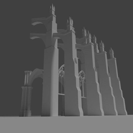 Gotische Stützpfeiler 3D