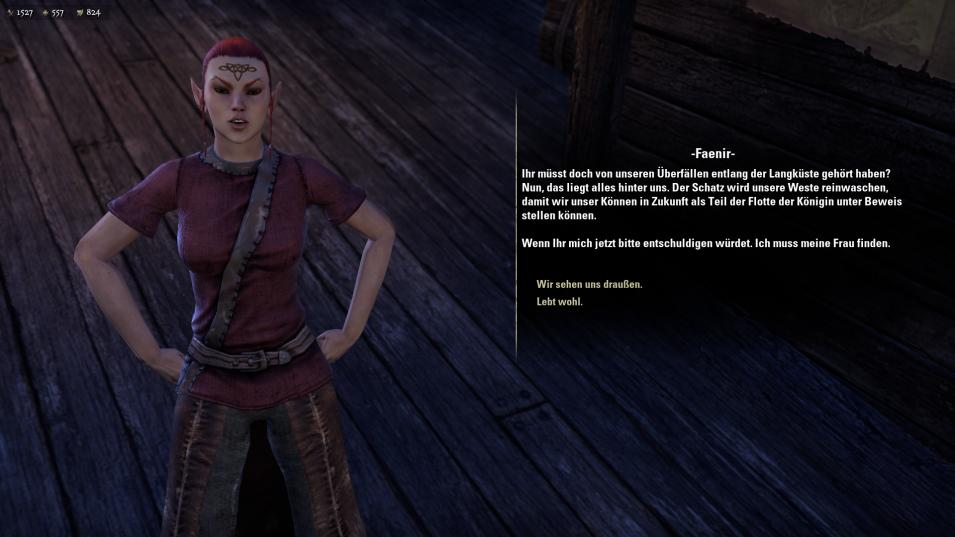 Dialog in einem mittelalterlichen Fantasy-Setting