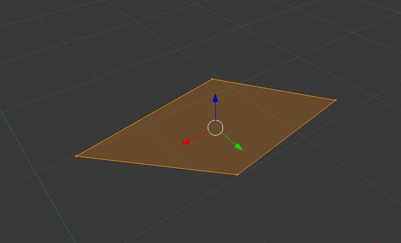 4 Vertices bilden eine Fläche