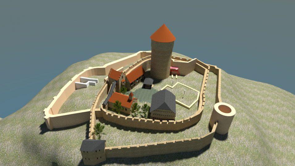 3D-Rekonstruktion der Burg Tannenberg
