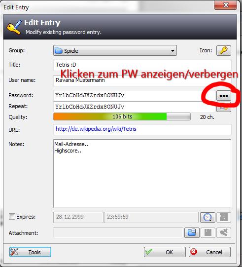 Passwort-Eintrag