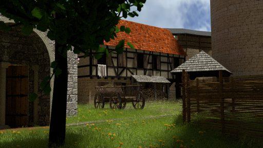 3D-Rekonstruktion Burghof Burg Tannenberg