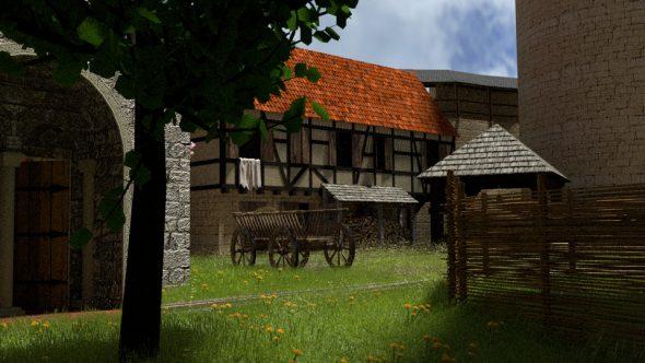 Wildwuchs auf Burg Tannenberg