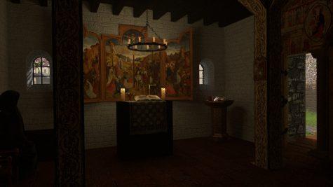 Rekonstruktion der Kapelle von Burg Tannenberg