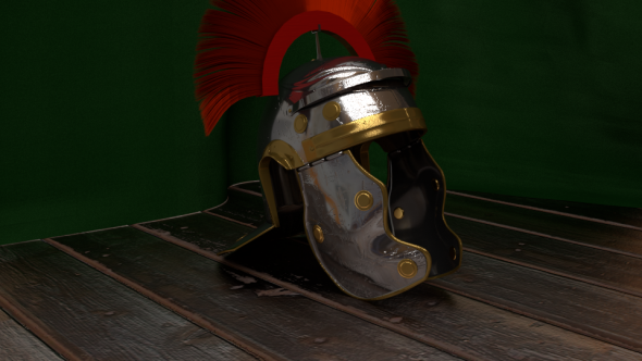 Legionärshelm in 3D