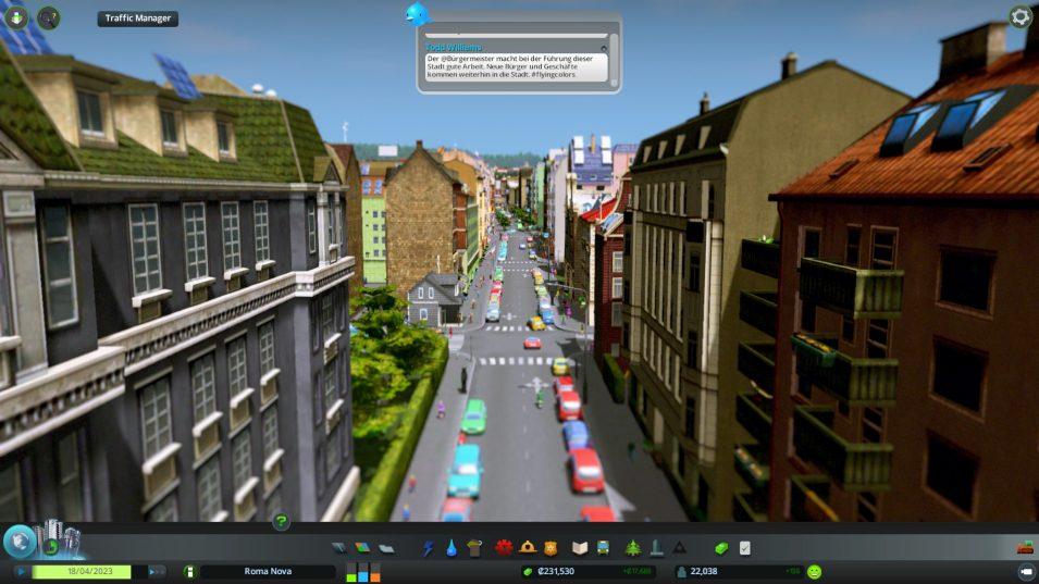 Cities Skylines mit europäischem Gebäudestil