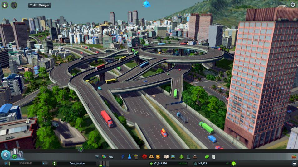 Mehrere Straßenebenen übereinander