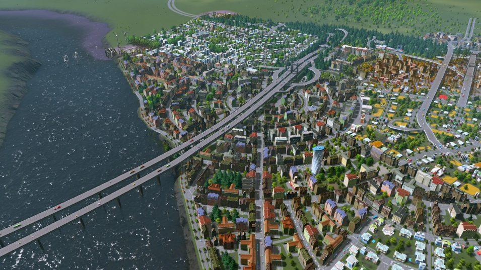 Blick auf meine neue Stadt mit derzeit 20.000 Einwohnern