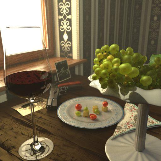 Weintrauben in Schale 3D