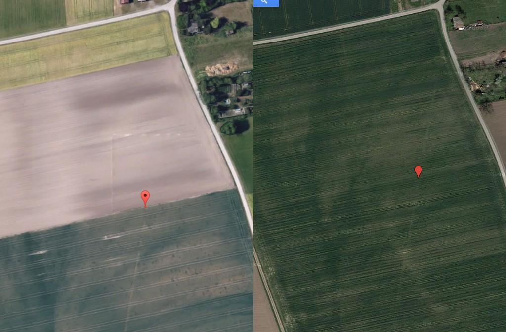 Unterschiede der Bilder bei gleichen Koordinaten