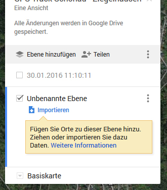 Google Maps: Importieren