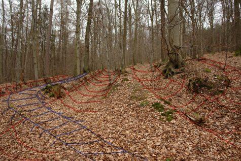 Hohlwegbündel bei Ziegelhausen: Hier verlaufen vier Hohlwege parallel zueinander