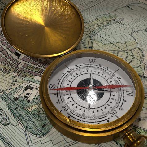 In Blender erstellter Kompass