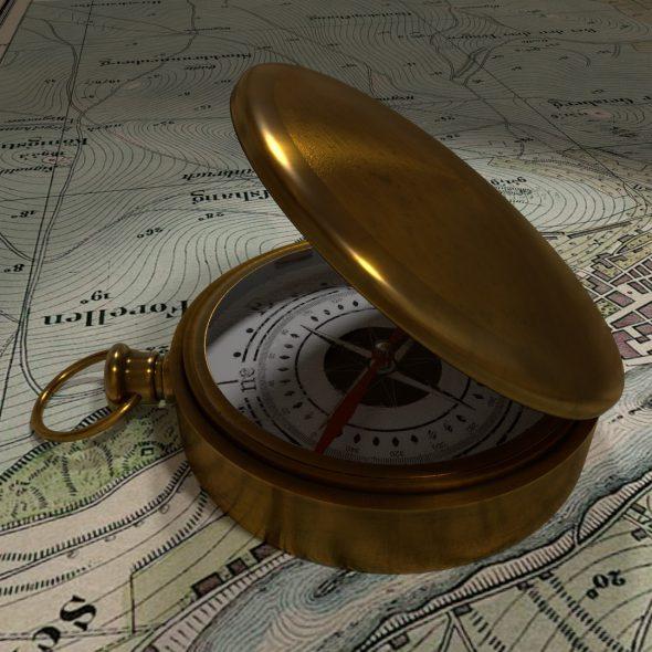 Kompass gebastelt…
