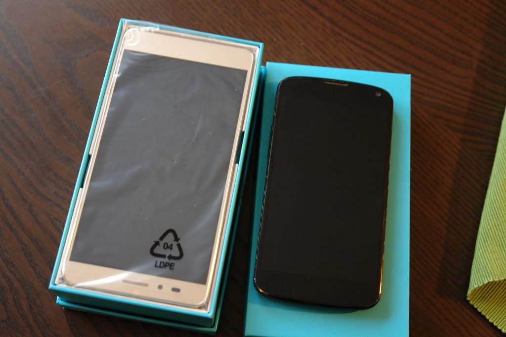 Größenvergleich: links das neue Honor 5X, rechts mein altes Nexus 4