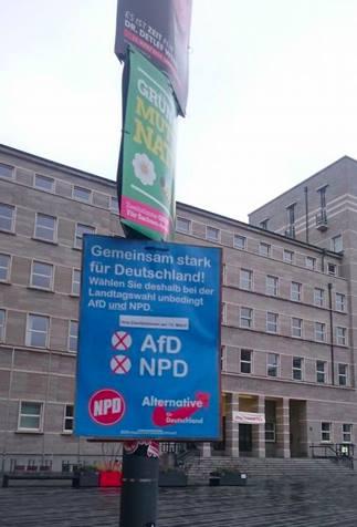 """""""Gemeinsam stark: AfD + NPD wählen!"""""""