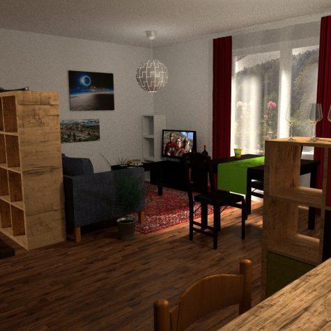 Wohnzimmer Innenarchitektur 3D