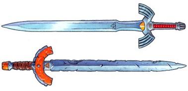 Masterschwert (das obere ist das Original)